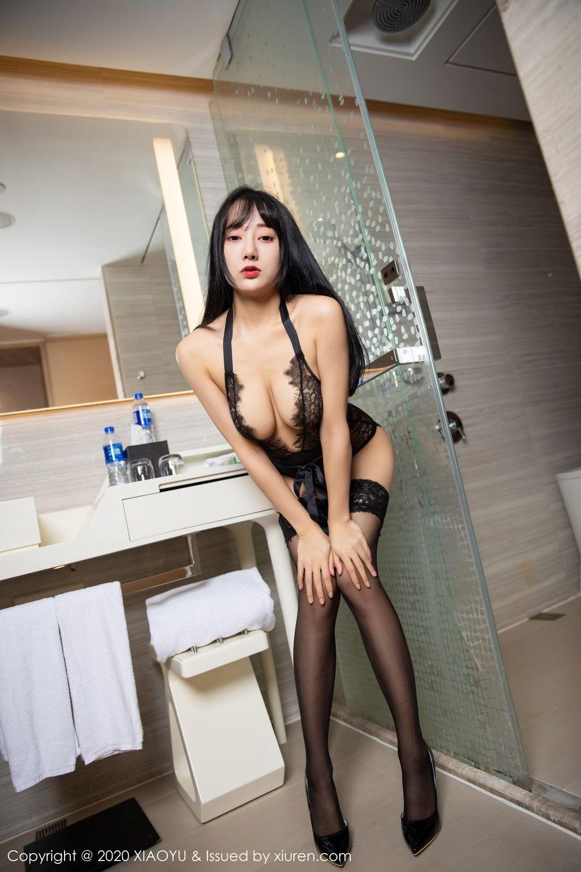 [XiaoYu] Vol.274 He Jia Ying 77P, Black Silk, He Jia Ying, Underwear, XiaoYu