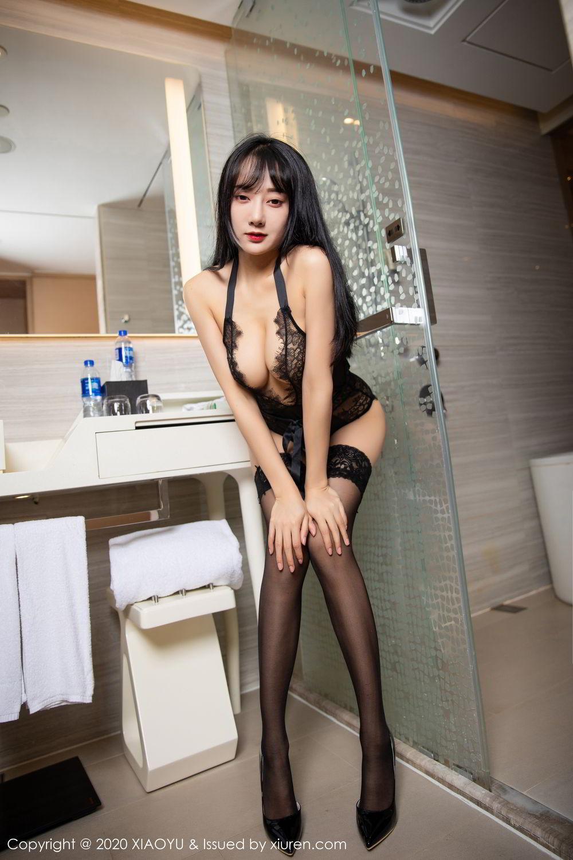 [XiaoYu] Vol.274 He Jia Ying 78P, Black Silk, He Jia Ying, Underwear, XiaoYu