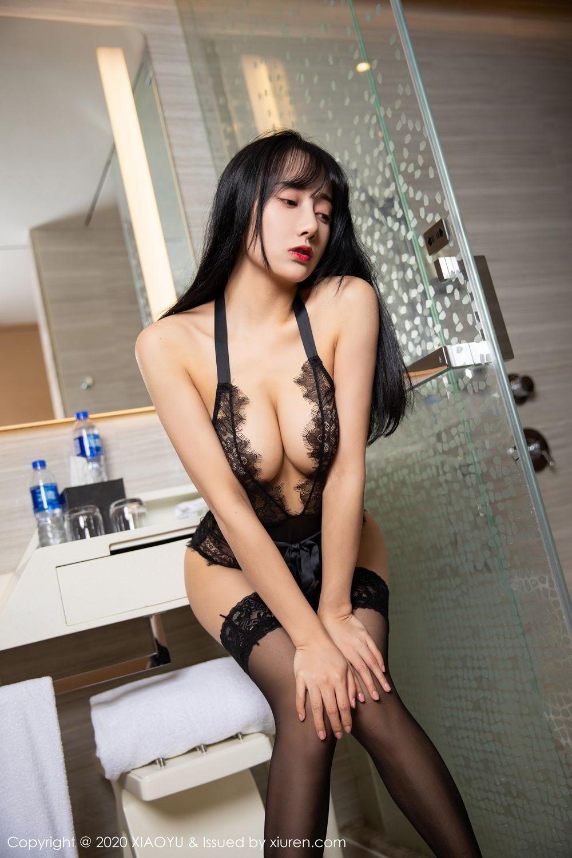 [XiaoYu] Vol.274 He Jia Ying 81P, Black Silk, He Jia Ying, Underwear, XiaoYu