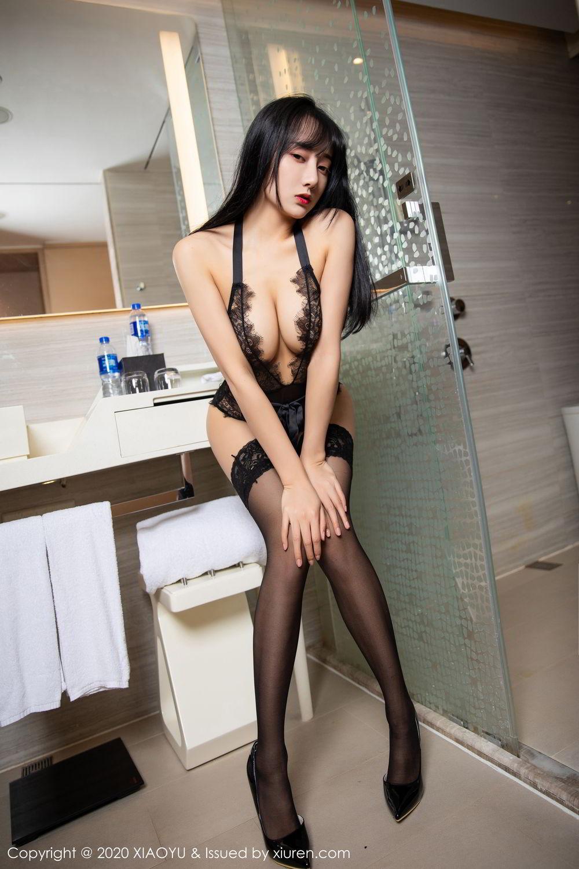 [XiaoYu] Vol.274 He Jia Ying 82P, Black Silk, He Jia Ying, Underwear, XiaoYu