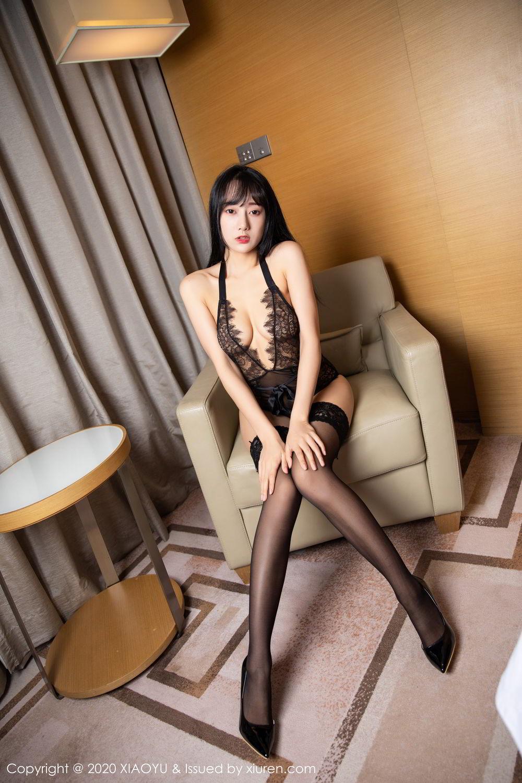 [XiaoYu] Vol.274 He Jia Ying 85P, Black Silk, He Jia Ying, Underwear, XiaoYu