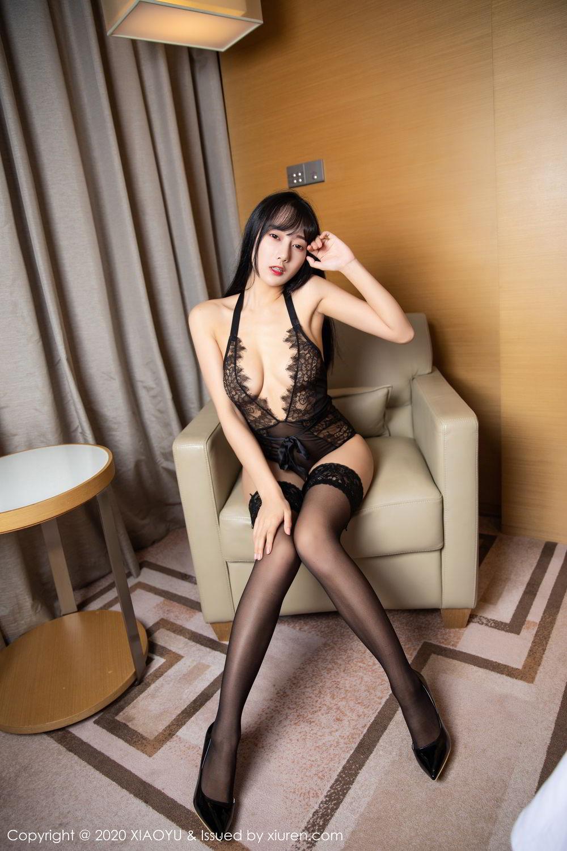 [XiaoYu] Vol.274 He Jia Ying 86P, Black Silk, He Jia Ying, Underwear, XiaoYu