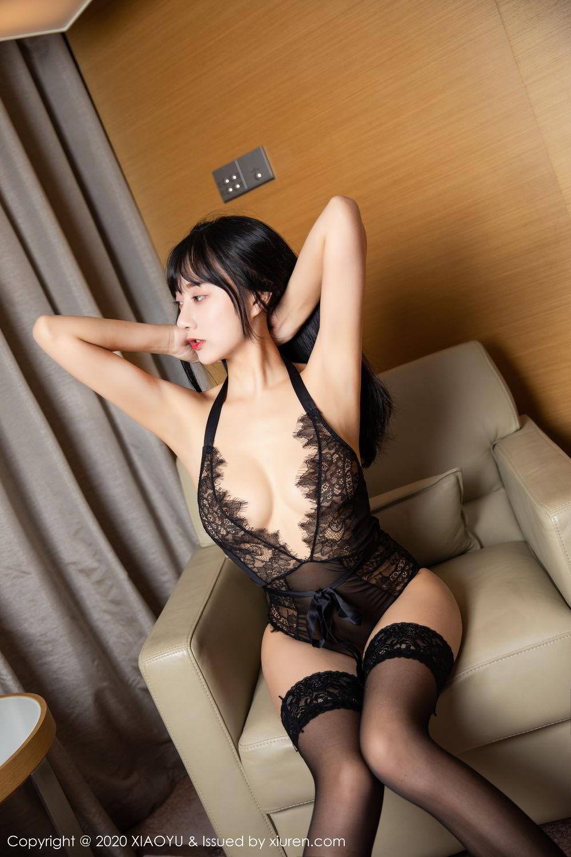[XiaoYu] Vol.274 He Jia Ying 87P, Black Silk, He Jia Ying, Underwear, XiaoYu