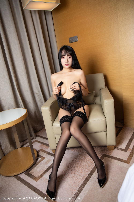 [XiaoYu] Vol.274 He Jia Ying 88P, Black Silk, He Jia Ying, Underwear, XiaoYu