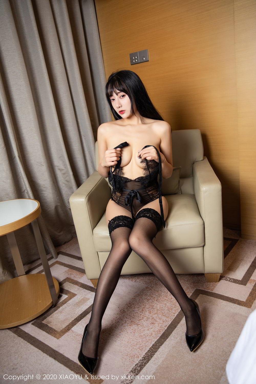 [XiaoYu] Vol.274 He Jia Ying 89P, Black Silk, He Jia Ying, Underwear, XiaoYu