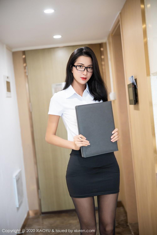[XiaoYu] Vol.281 Carry 15P, Black Silk, Chen Liang Ling, Tall, XiaoYu