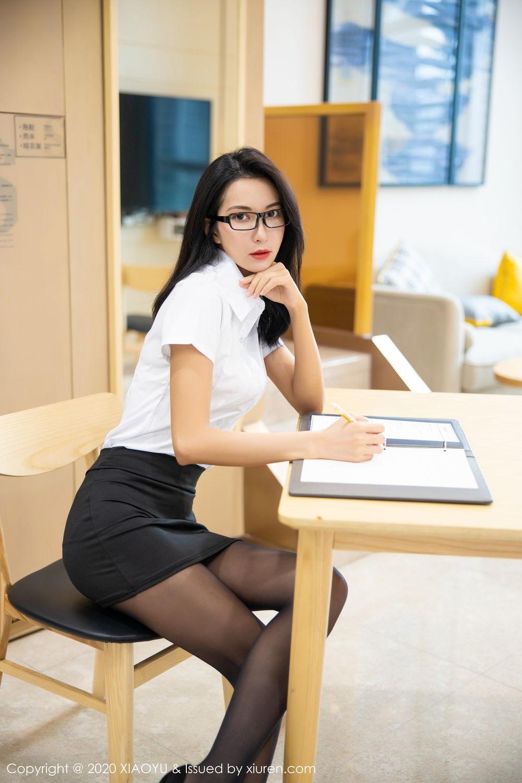 [XiaoYu] Vol.281 Carry 25P, Black Silk, Chen Liang Ling, Tall, XiaoYu