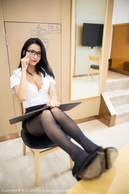 [XiaoYu] Vol.281 Carry 53P, Black Silk, Chen Liang Ling, Tall, XiaoYu