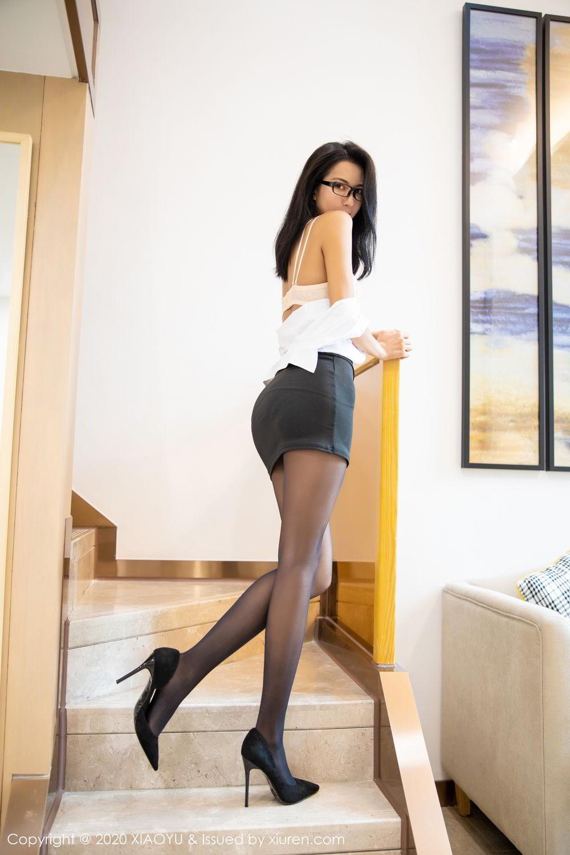 [XiaoYu] Vol.281 Carry 54P, Black Silk, Chen Liang Ling, Tall, XiaoYu