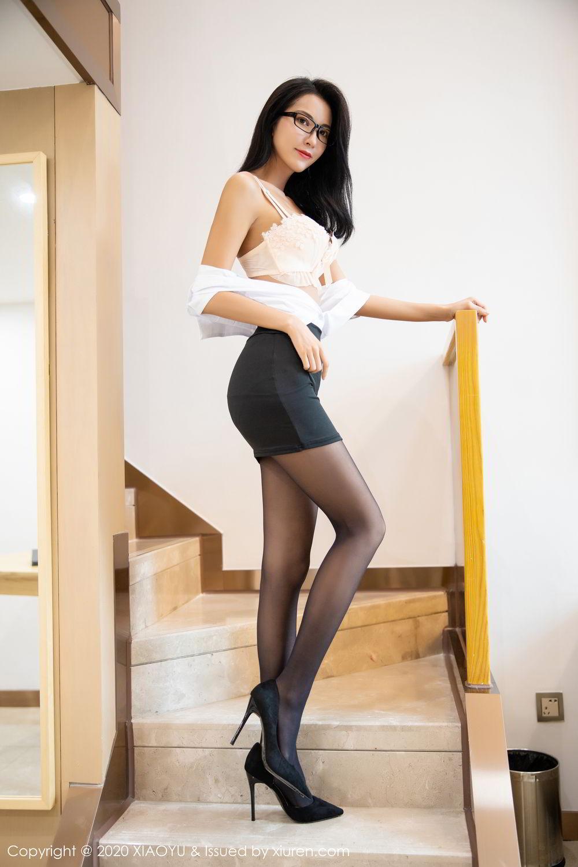 [XiaoYu] Vol.281 Carry 55P, Black Silk, Chen Liang Ling, Tall, XiaoYu