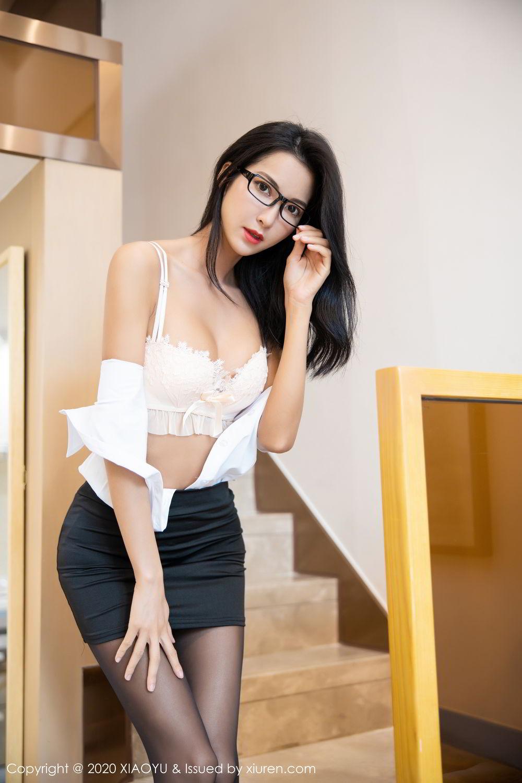 [XiaoYu] Vol.281 Carry 58P, Black Silk, Chen Liang Ling, Tall, XiaoYu