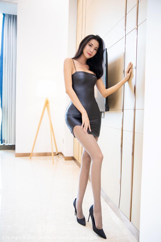 [XiaoYu] Vol.283 Carry 10P, Black Silk, Chen Liang Ling, Tall, Temperament, XiaoYu