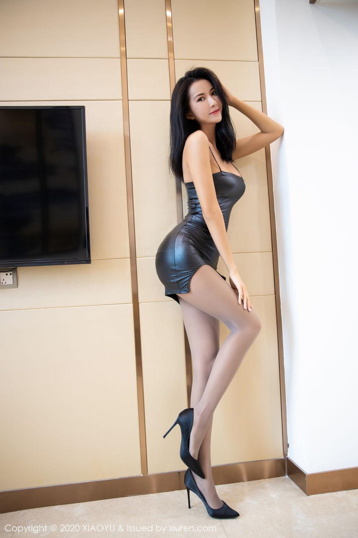 [XiaoYu] Vol.283 Carry 16P, Black Silk, Chen Liang Ling, Tall, Temperament, XiaoYu