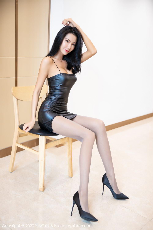 [XiaoYu] Vol.283 Carry 17P, Black Silk, Chen Liang Ling, Tall, Temperament, XiaoYu