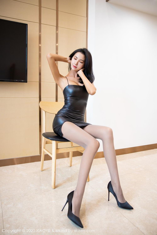 [XiaoYu] Vol.283 Carry 18P, Black Silk, Chen Liang Ling, Tall, Temperament, XiaoYu