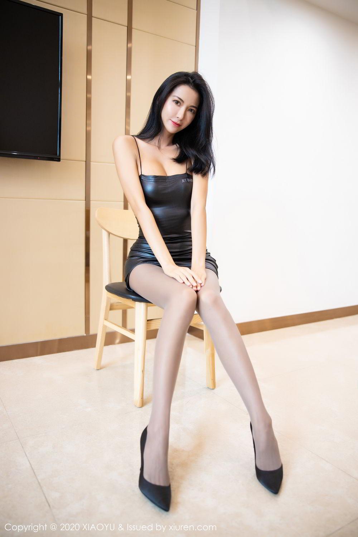[XiaoYu] Vol.283 Carry 19P, Black Silk, Chen Liang Ling, Tall, Temperament, XiaoYu