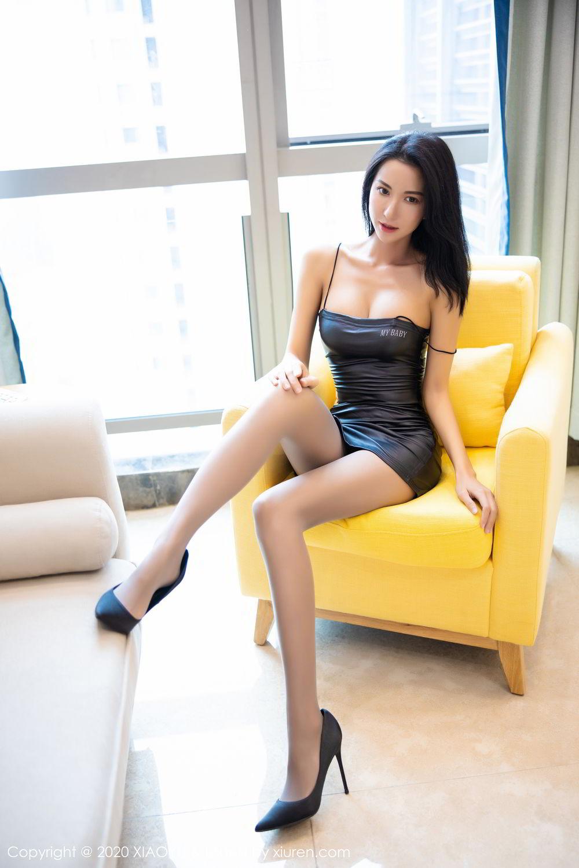 [XiaoYu] Vol.283 Carry 24P, Black Silk, Chen Liang Ling, Tall, Temperament, XiaoYu