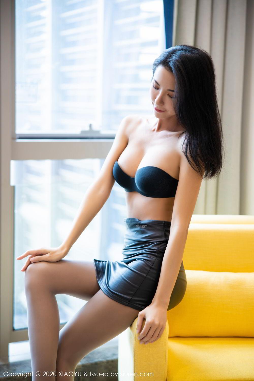 [XiaoYu] Vol.283 Carry 25P, Black Silk, Chen Liang Ling, Tall, Temperament, XiaoYu