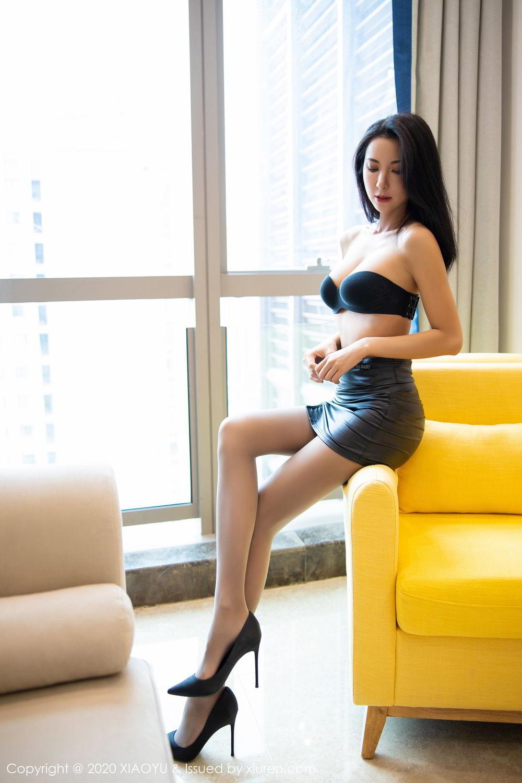 [XiaoYu] Vol.283 Carry 27P, Black Silk, Chen Liang Ling, Tall, Temperament, XiaoYu