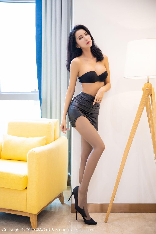 [XiaoYu] Vol.283 Carry 28P, Black Silk, Chen Liang Ling, Tall, Temperament, XiaoYu