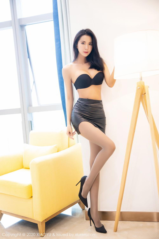 [XiaoYu] Vol.283 Carry 30P, Black Silk, Chen Liang Ling, Tall, Temperament, XiaoYu