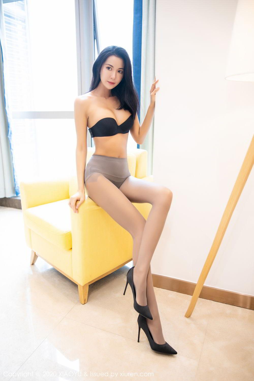 [XiaoYu] Vol.283 Carry 34P, Black Silk, Chen Liang Ling, Tall, Temperament, XiaoYu