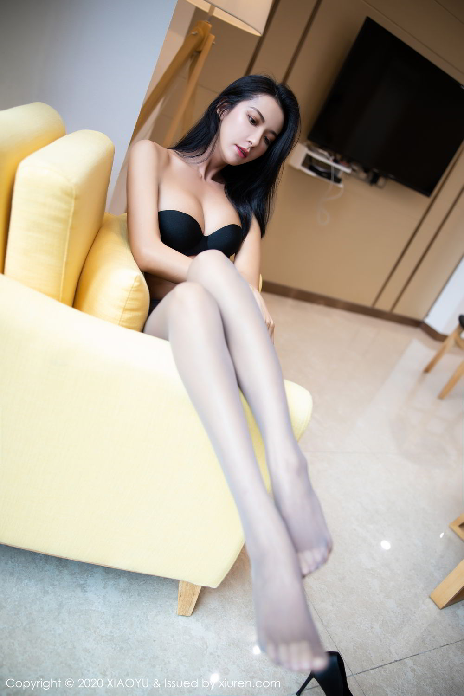 [XiaoYu] Vol.283 Carry 4P, Black Silk, Chen Liang Ling, Tall, Temperament, XiaoYu