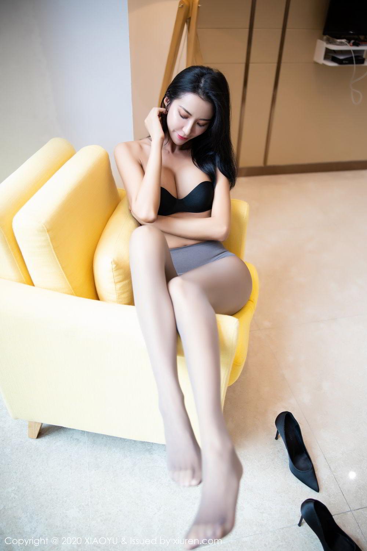 [XiaoYu] Vol.283 Carry 50P, Black Silk, Chen Liang Ling, Tall, Temperament, XiaoYu