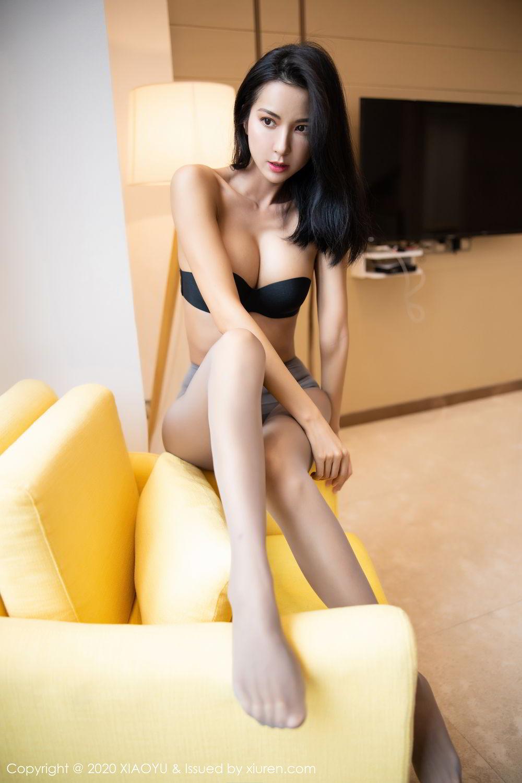 [XiaoYu] Vol.283 Carry 5P, Black Silk, Chen Liang Ling, Tall, Temperament, XiaoYu