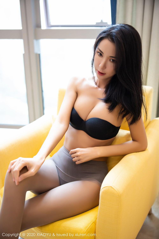 [XiaoYu] Vol.283 Carry 61P, Black Silk, Chen Liang Ling, Tall, Temperament, XiaoYu