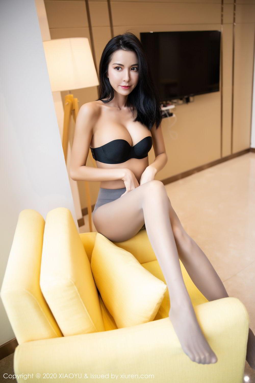 [XiaoYu] Vol.283 Carry 75P, Black Silk, Chen Liang Ling, Tall, Temperament, XiaoYu