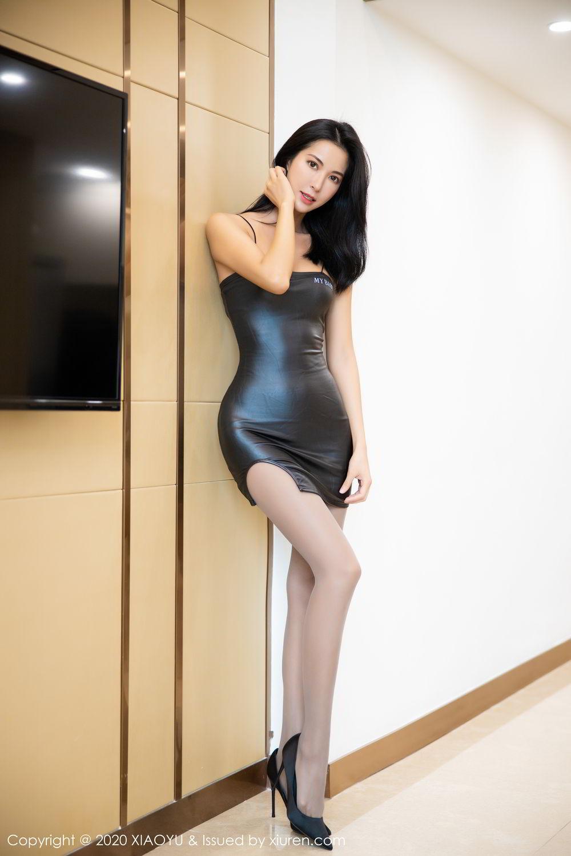 [XiaoYu] Vol.283 Carry 7P, Black Silk, Chen Liang Ling, Tall, Temperament, XiaoYu