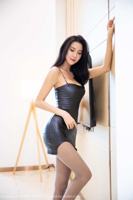 [XiaoYu] Vol.283 Carry 9P, Black Silk, Chen Liang Ling, Tall, Temperament, XiaoYu