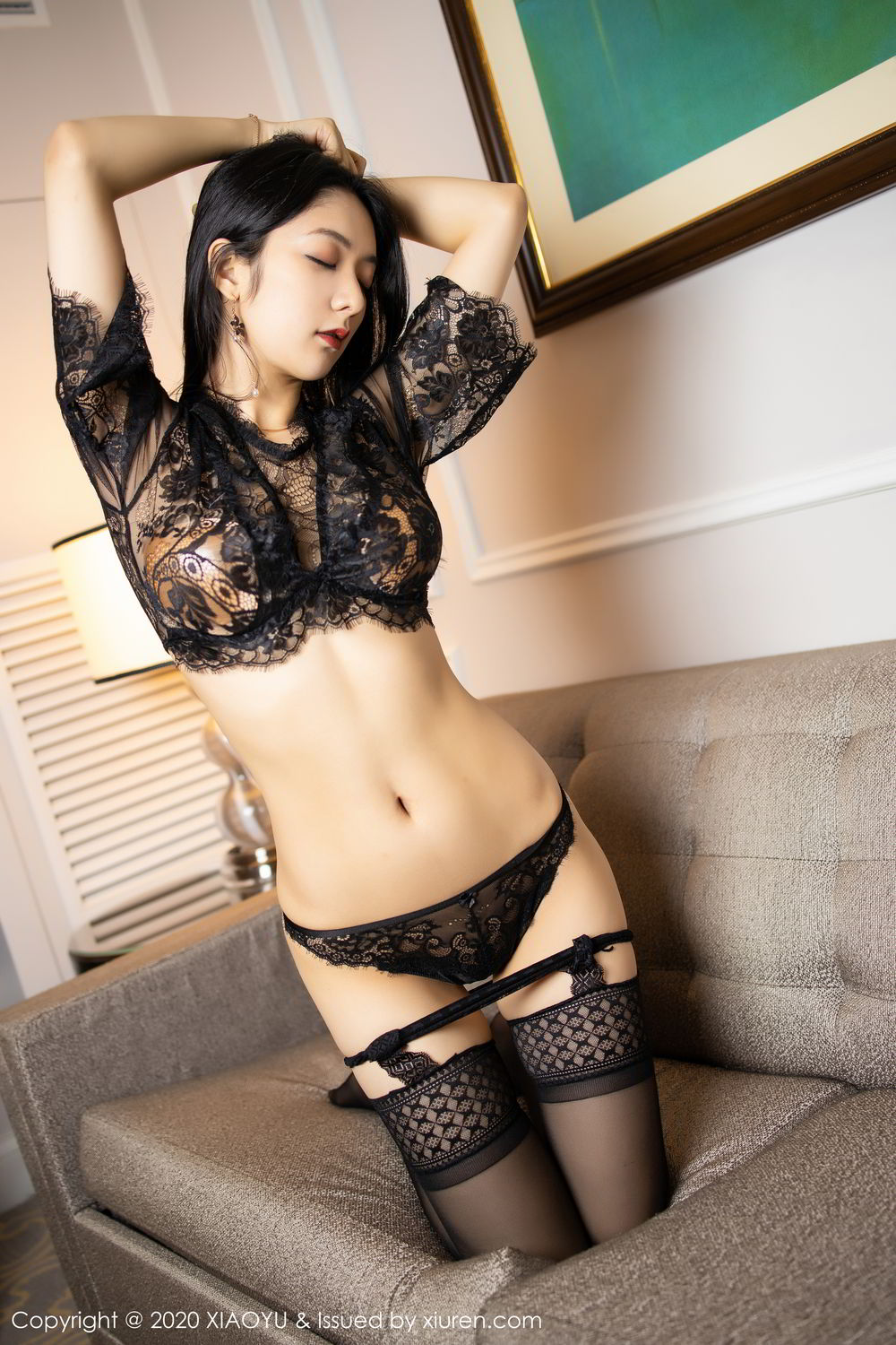 [XiaoYu] Vol.284 Xiao Re Ba 42P, Black Silk, Di Yi, Underwear, XiaoYu