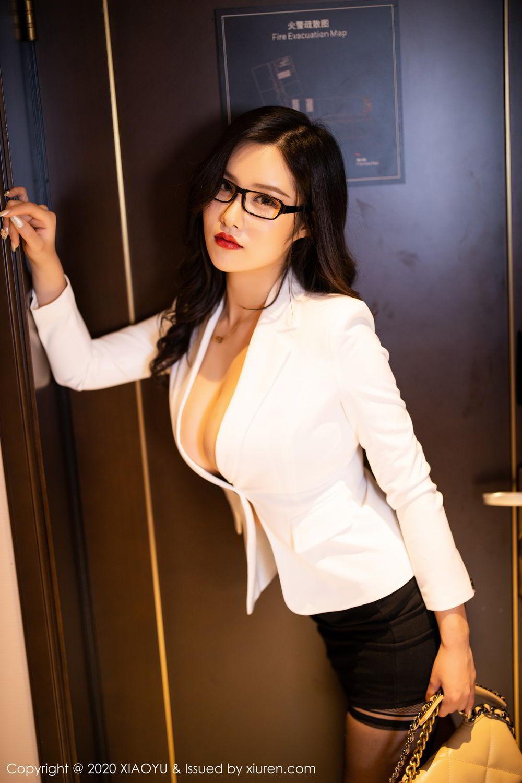 [XiaoYu] Vol.290 Zhou Si Qiao 11P, Black Silk, Tall, Underwear, XiaoYu, Zhou Si Qiao