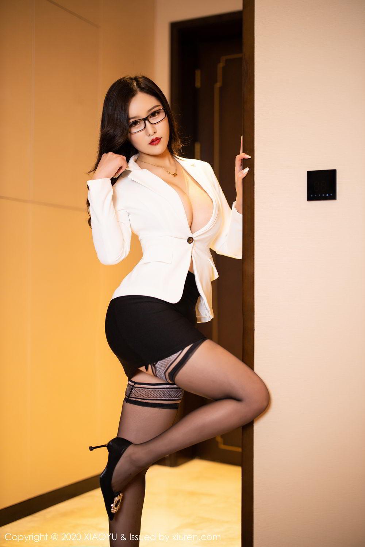 [XiaoYu] Vol.290 Zhou Si Qiao 14P, Black Silk, Tall, Underwear, XiaoYu, Zhou Si Qiao