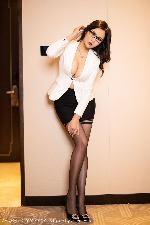 [XiaoYu] Vol.290 Zhou Si Qiao 15P, Black Silk, Tall, Underwear, XiaoYu, Zhou Si Qiao