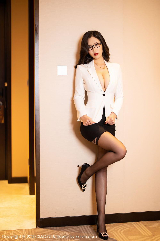 [XiaoYu] Vol.290 Zhou Si Qiao 17P, Black Silk, Tall, Underwear, XiaoYu, Zhou Si Qiao