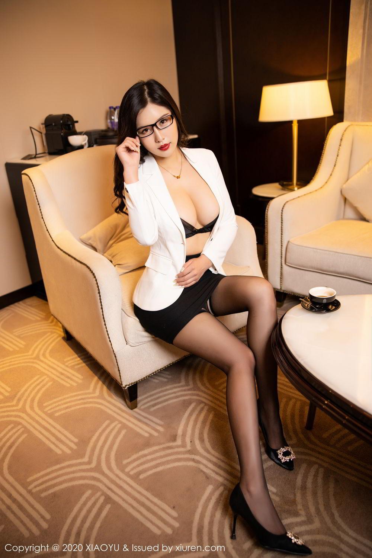 [XiaoYu] Vol.290 Zhou Si Qiao 23P, Black Silk, Tall, Underwear, XiaoYu, Zhou Si Qiao