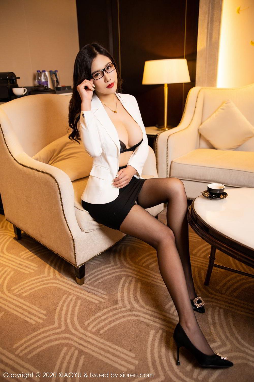 [XiaoYu] Vol.290 Zhou Si Qiao 24P, Black Silk, Tall, Underwear, XiaoYu, Zhou Si Qiao