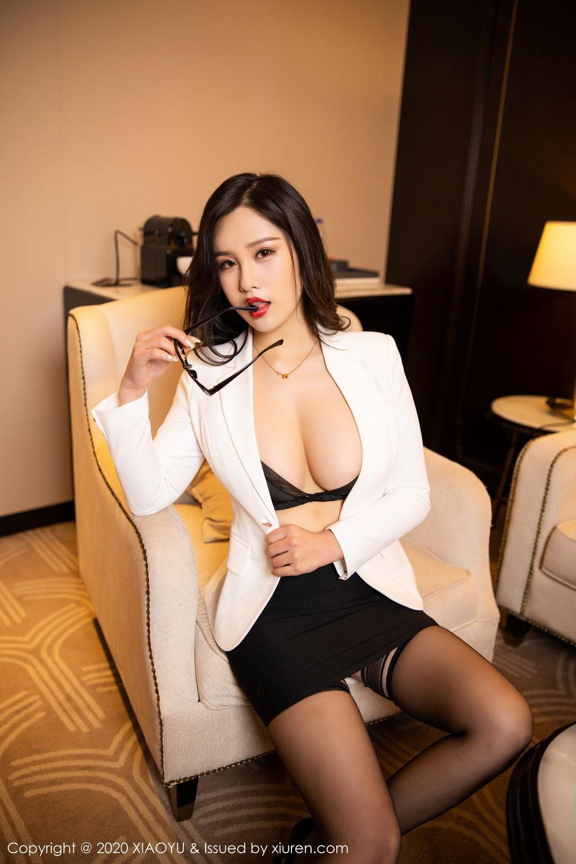 [XiaoYu] Vol.290 Zhou Si Qiao 26P, Black Silk, Tall, Underwear, XiaoYu, Zhou Si Qiao