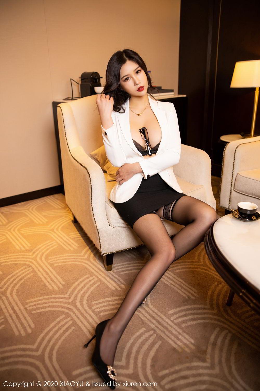 [XiaoYu] Vol.290 Zhou Si Qiao 28P, Black Silk, Tall, Underwear, XiaoYu, Zhou Si Qiao