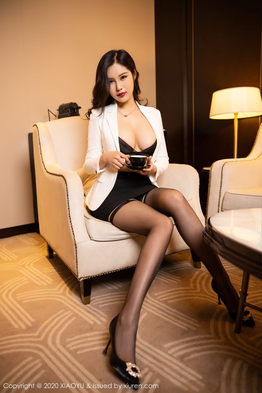 [XiaoYu] Vol.290 Zhou Si Qiao 29P, Black Silk, Tall, Underwear, XiaoYu, Zhou Si Qiao