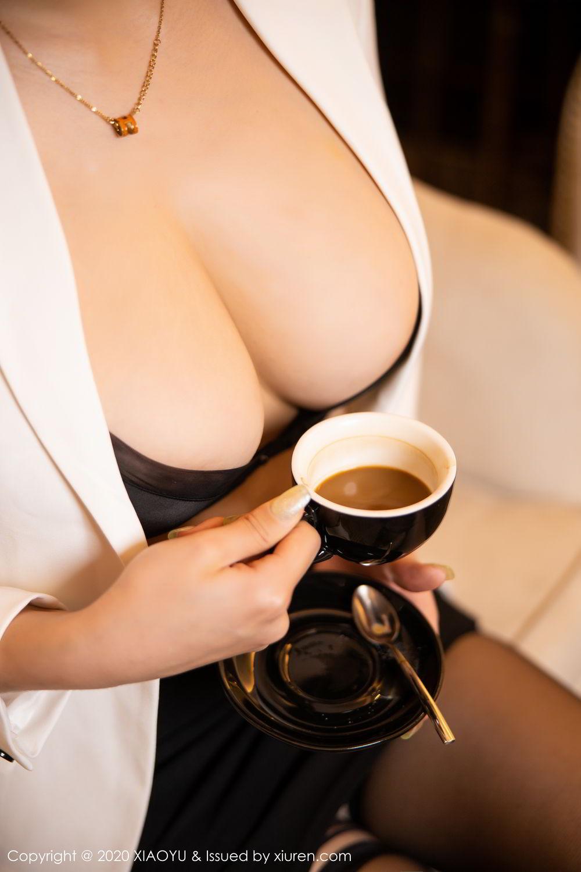 [XiaoYu] Vol.290 Zhou Si Qiao 30P, Black Silk, Tall, Underwear, XiaoYu, Zhou Si Qiao