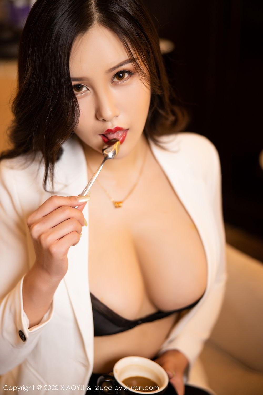 [XiaoYu] Vol.290 Zhou Si Qiao 31P, Black Silk, Tall, Underwear, XiaoYu, Zhou Si Qiao