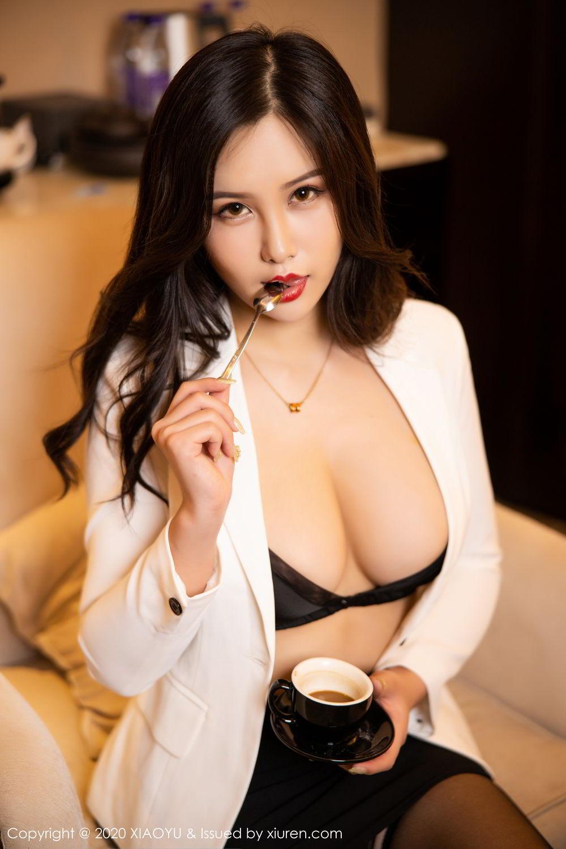[XiaoYu] Vol.290 Zhou Si Qiao 32P, Black Silk, Tall, Underwear, XiaoYu, Zhou Si Qiao