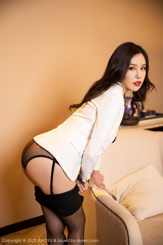 [XiaoYu] Vol.290 Zhou Si Qiao 33P, Black Silk, Tall, Underwear, XiaoYu, Zhou Si Qiao