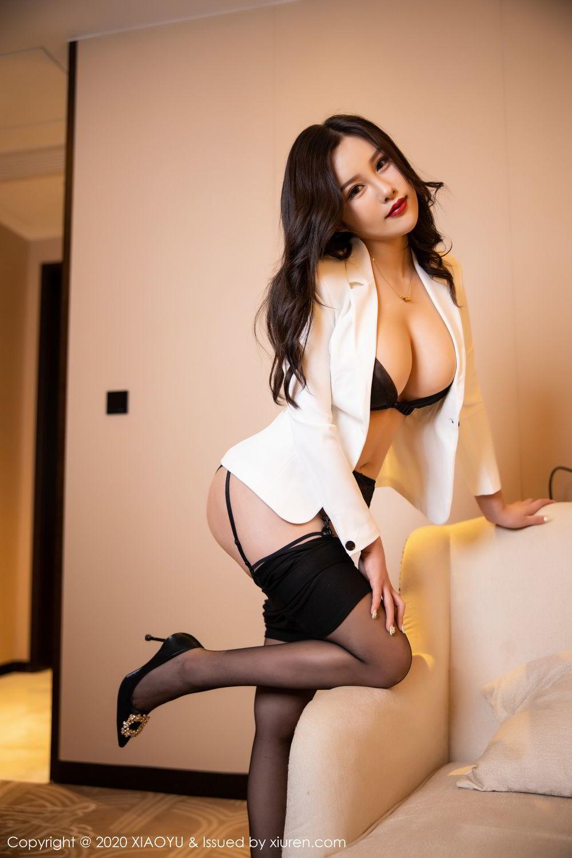 [XiaoYu] Vol.290 Zhou Si Qiao 34P, Black Silk, Tall, Underwear, XiaoYu, Zhou Si Qiao