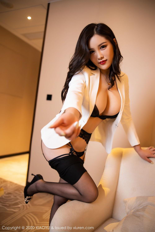 [XiaoYu] Vol.290 Zhou Si Qiao 35P, Black Silk, Tall, Underwear, XiaoYu, Zhou Si Qiao