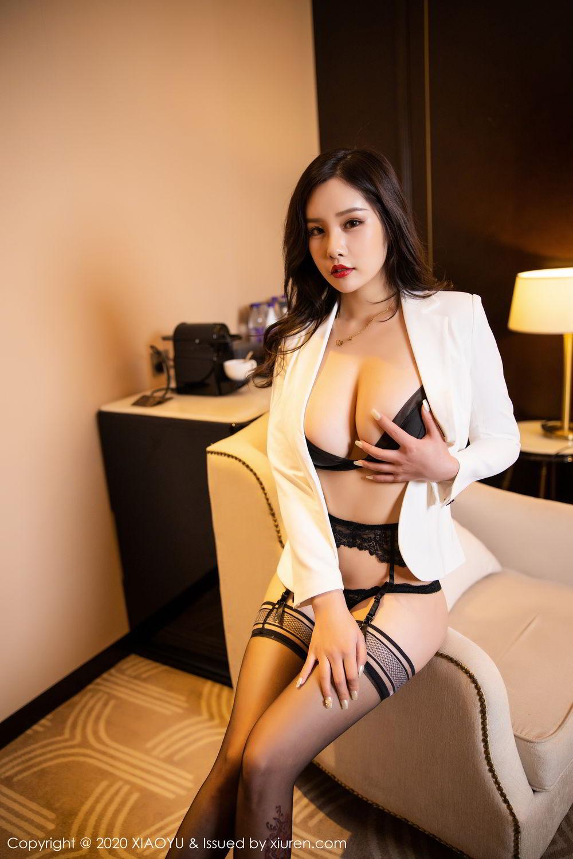 [XiaoYu] Vol.290 Zhou Si Qiao 39P, Black Silk, Tall, Underwear, XiaoYu, Zhou Si Qiao